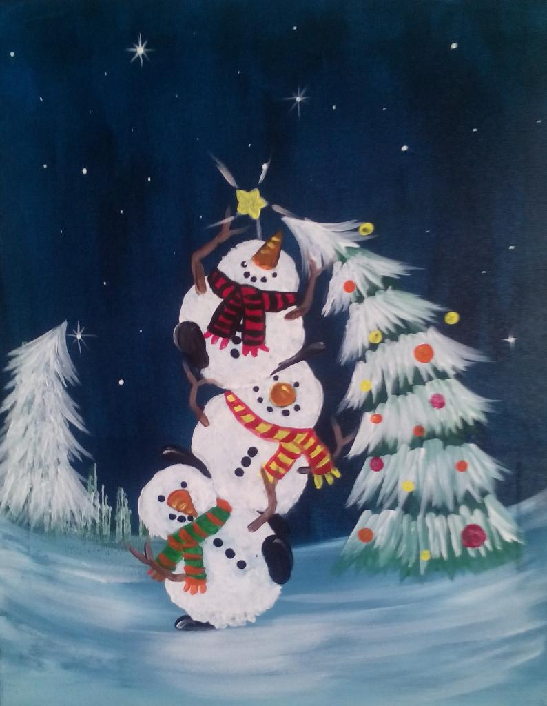 Let 39 s paint tonight Christmas card scenes to paint